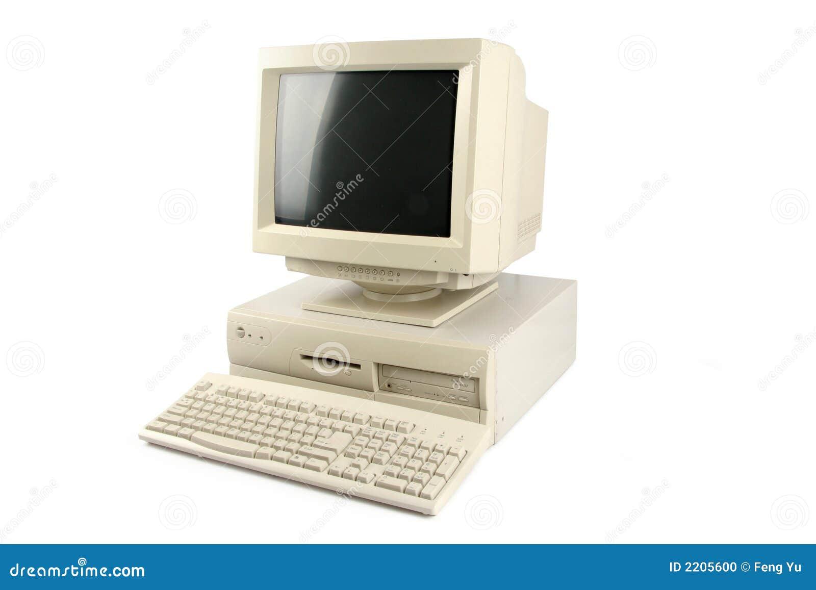 Computadora de escritorio foto de archivo imagen de for Escritorio para computadora