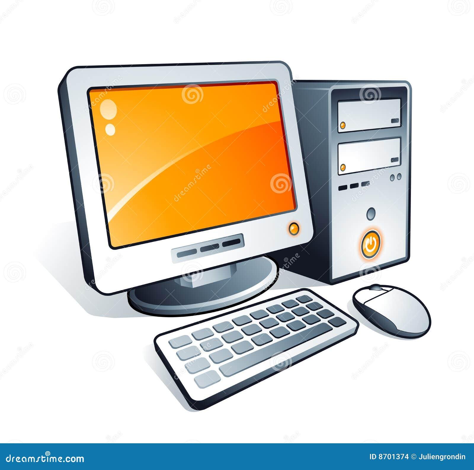 Computadora de escritorio ilustraci n del vector for Imagenes animadas para escritorio de computadora gratis