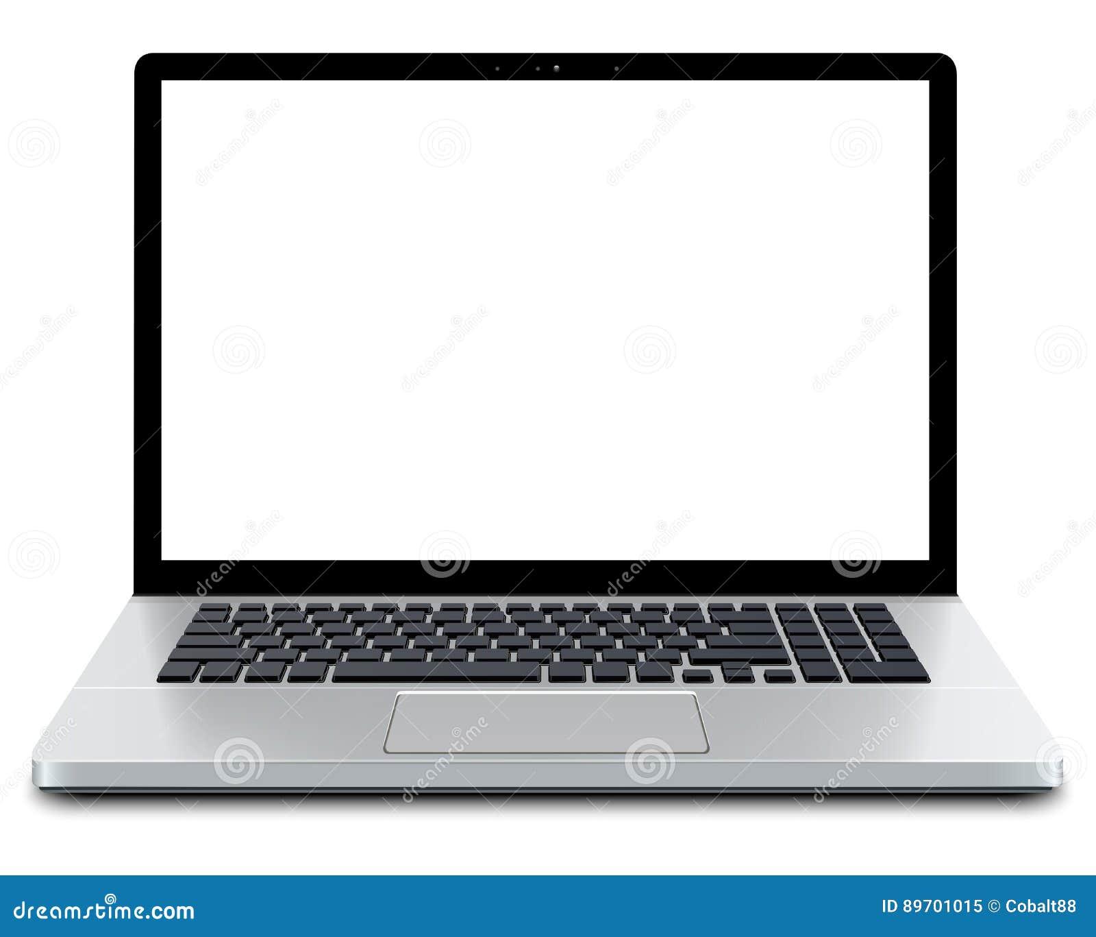 Computadora portátil con la pantalla vacía