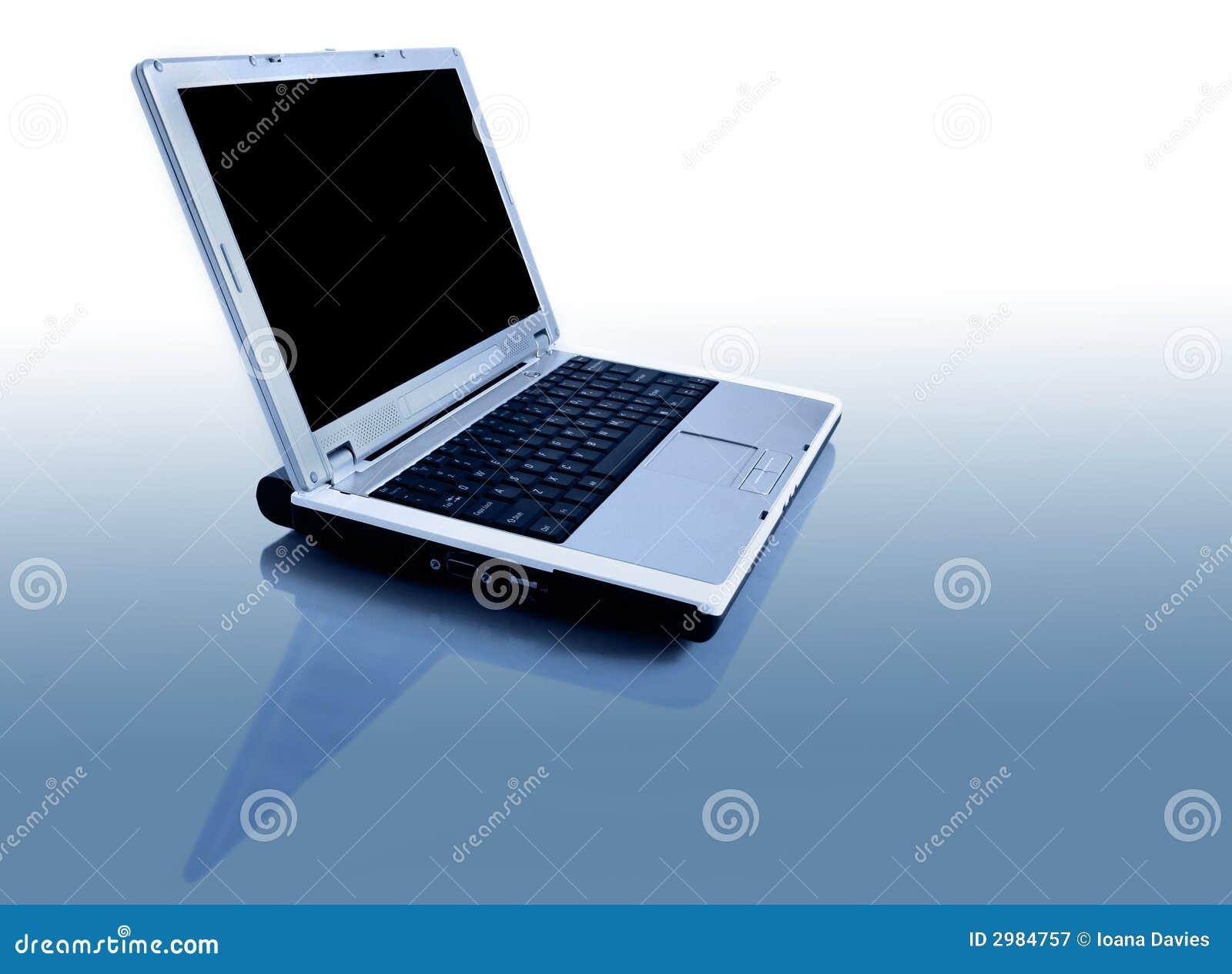 Computadora portátil con la reflexión