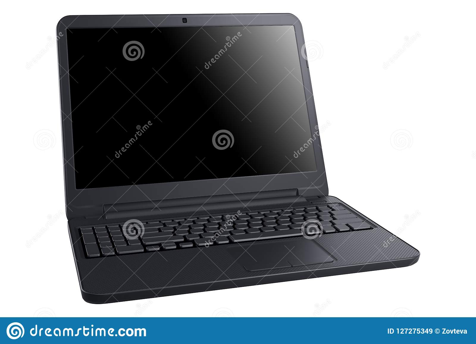 Computadora portátil en el fondo blanco