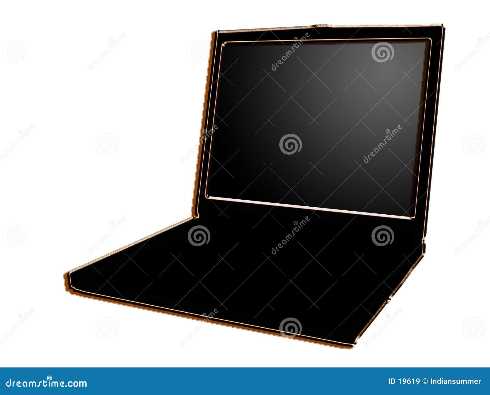 Computadora portátil estilizada