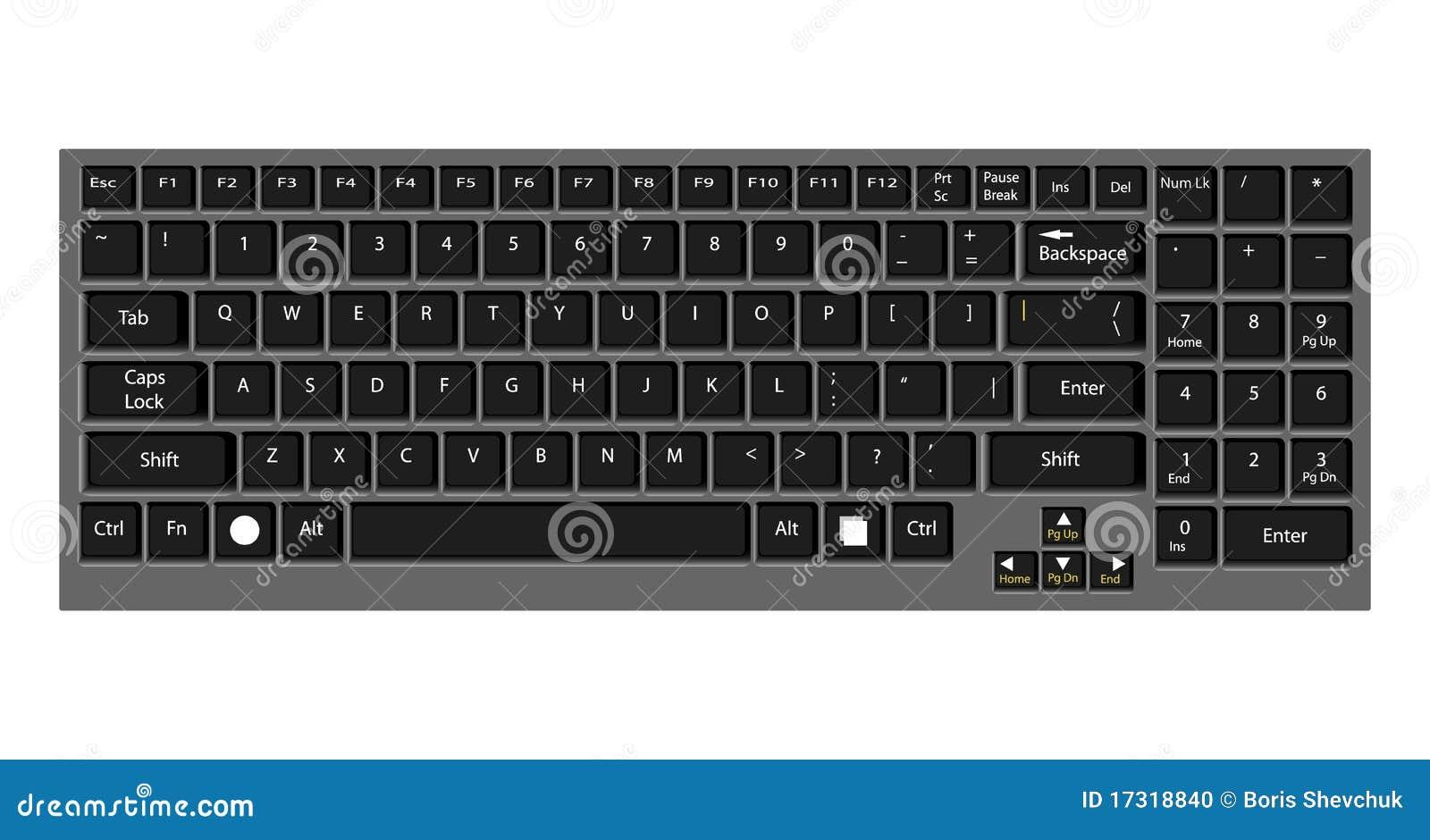 Computadora port til verdadera del teclado foto de - Foto teclado ordenador ...