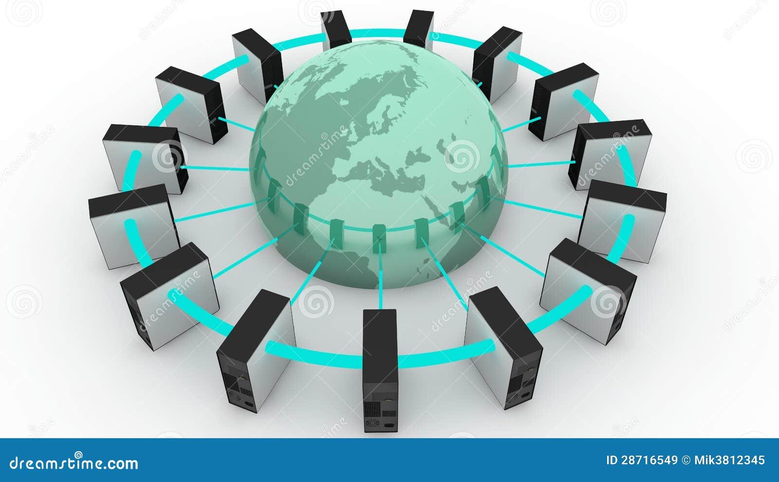 Computadores conectados ao mundo
