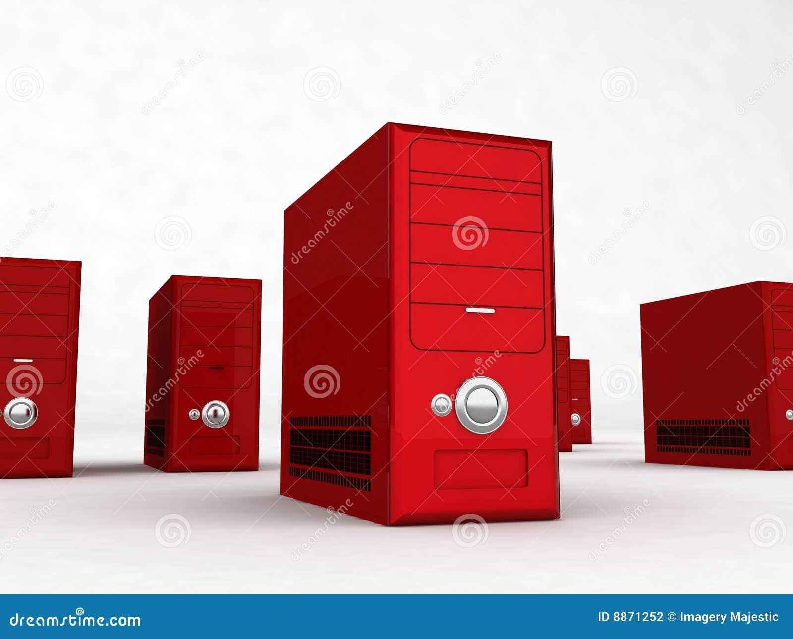 Computadores vermelhos