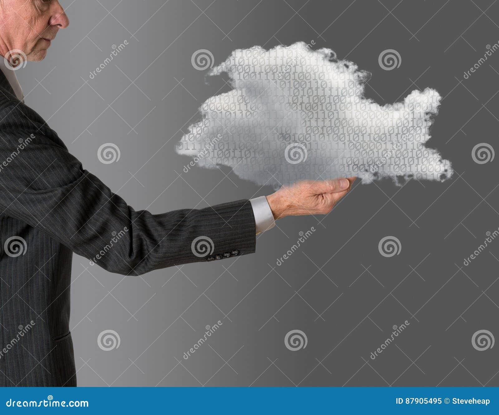 Computazione della nuvola della tenuta del senior manager