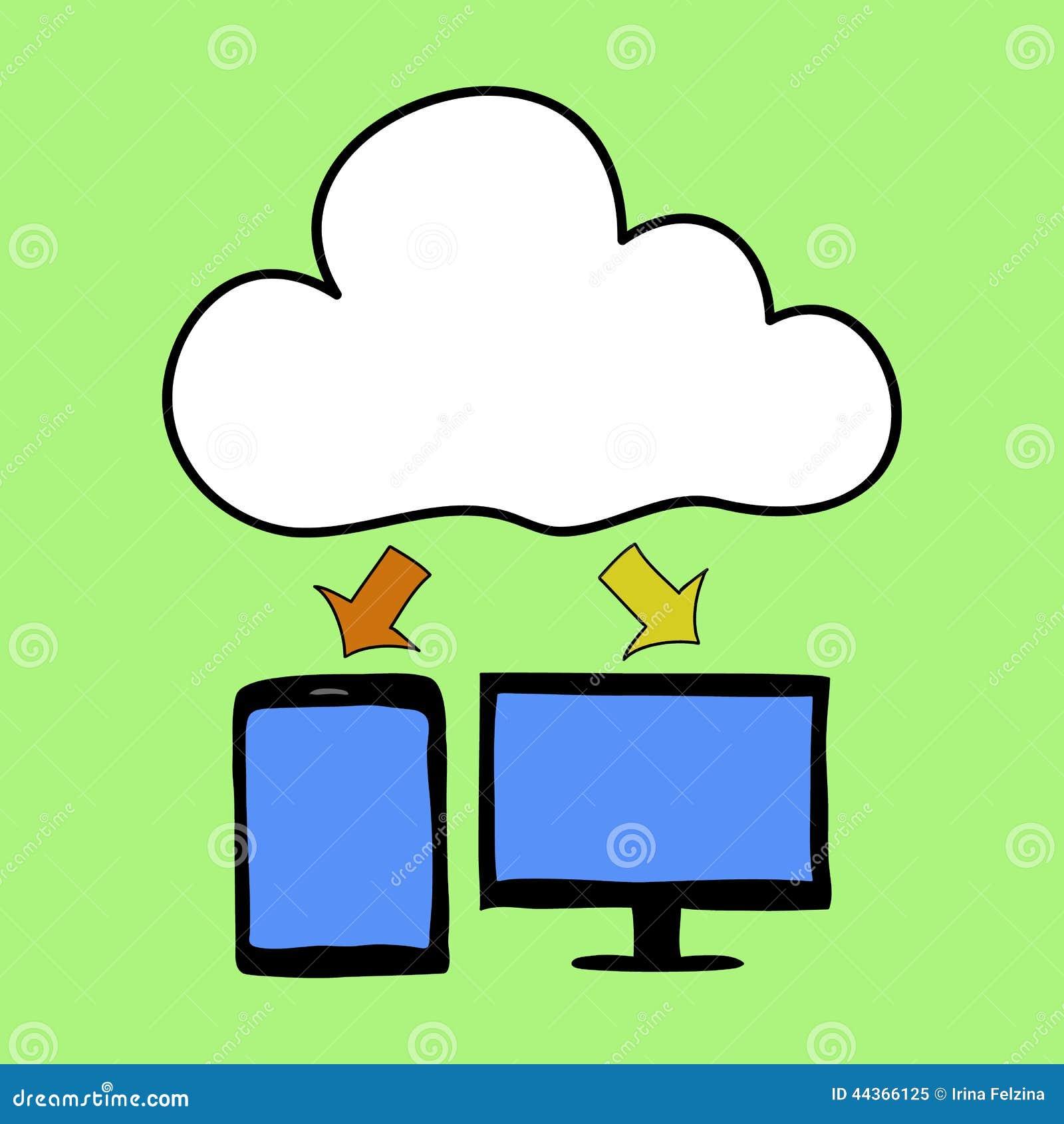 Computazione della nuvola di stile del fumetto