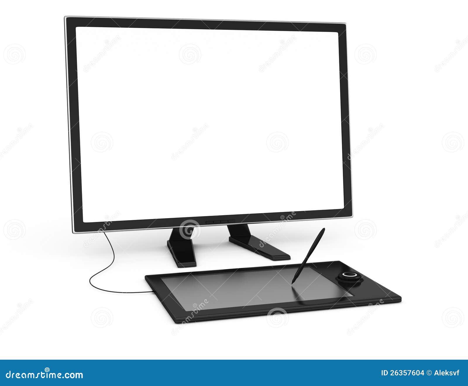 Computerüberwachungsgerät und Zeichnungstablette