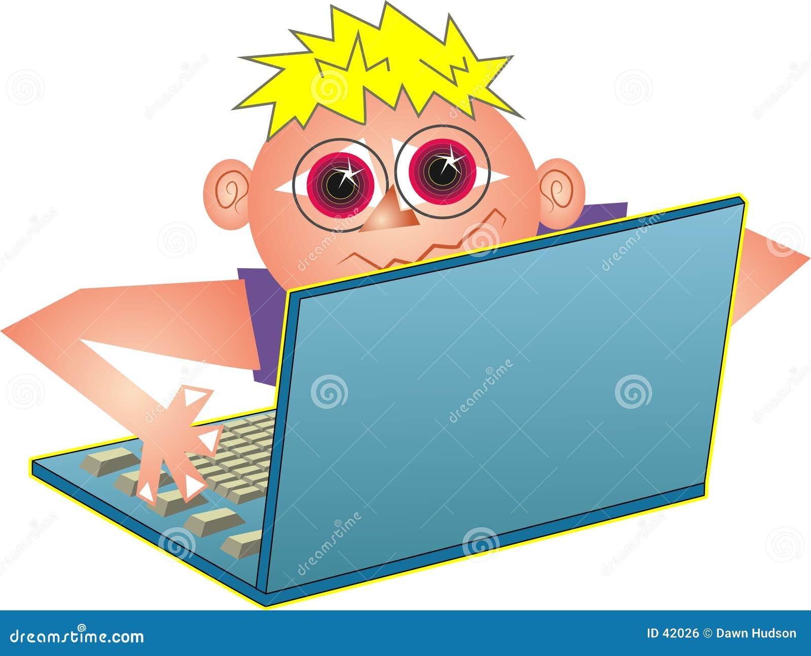 Download Computer-Aussenseiter stock abbildung. Illustration von tastatur - 42026