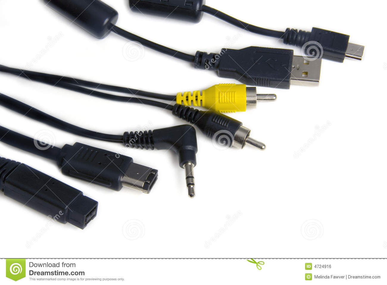 Computer Cables stock photo. Image of firewire, connectors - 4724916