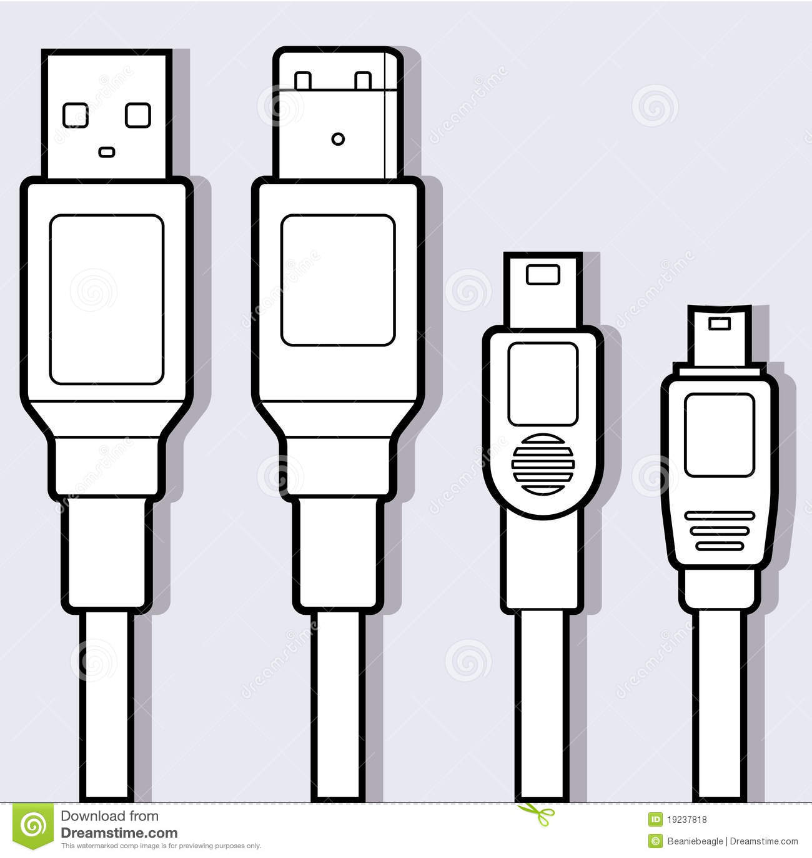 Computer Cables Diagram Royalty Free Stock Photos