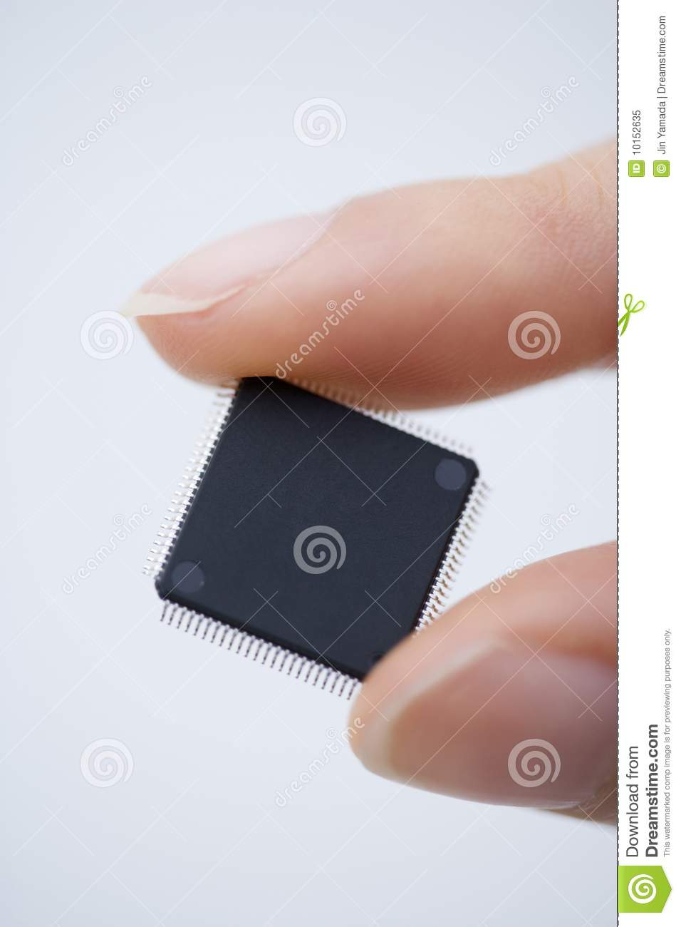 Computer Chip stock image  Image of finger, connection