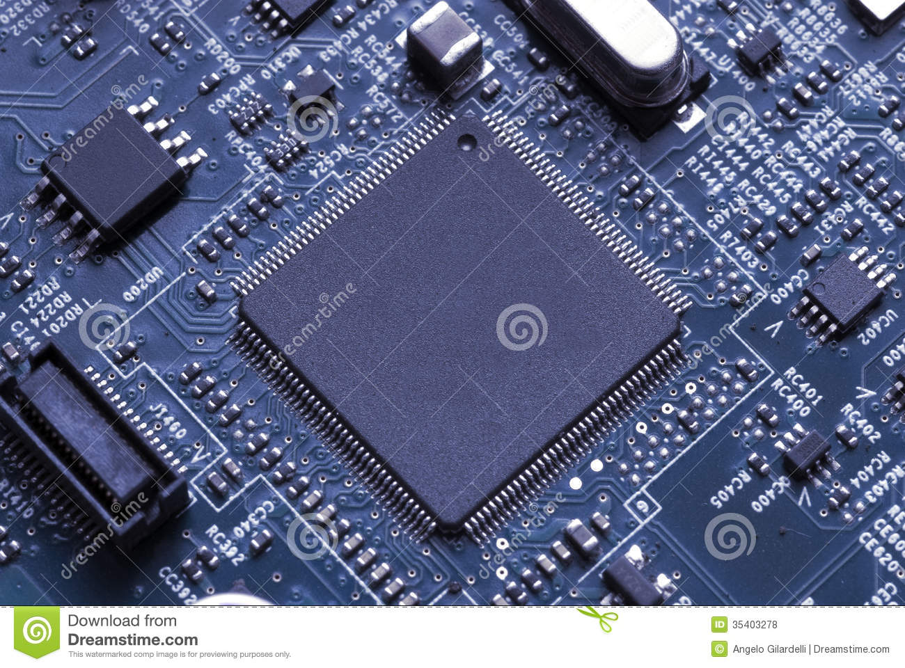 Computer Chip Royalty Free Stock Photos - Image: 35403278