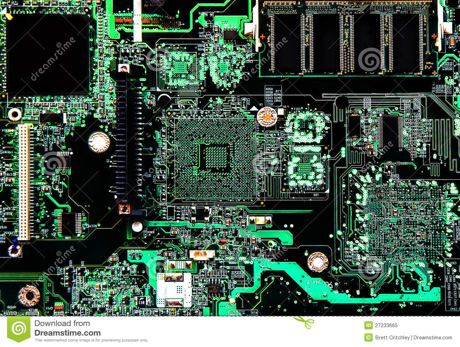 Computer Circuit Board Stock Photo 27233665 - Megapixl