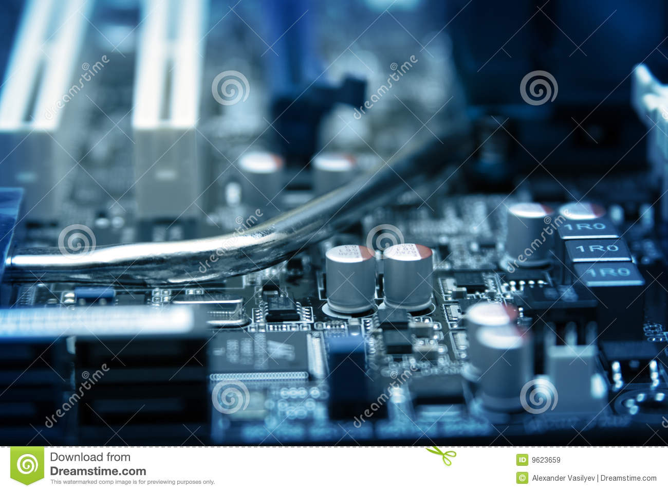 computer circuit board stock image image of hardware 9623659 rh dreamstime com Parallel and Series Circuits Electric Current