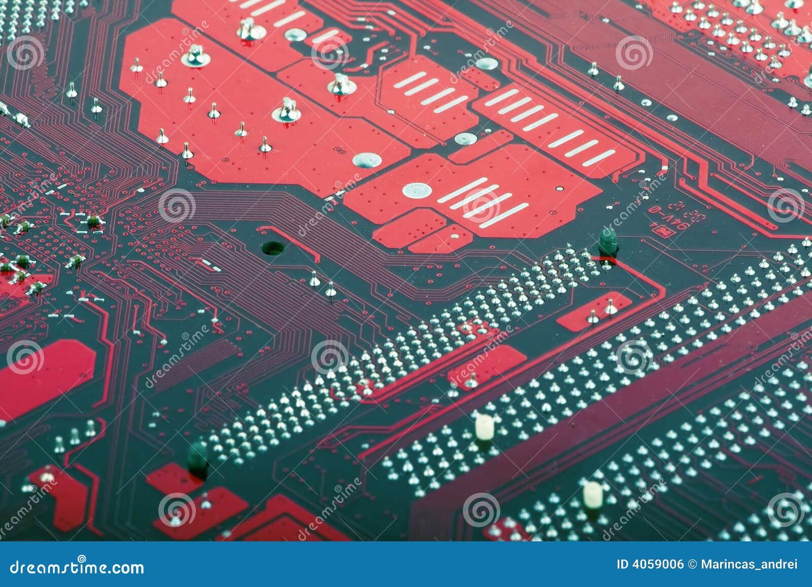 Computer circuit motherboard