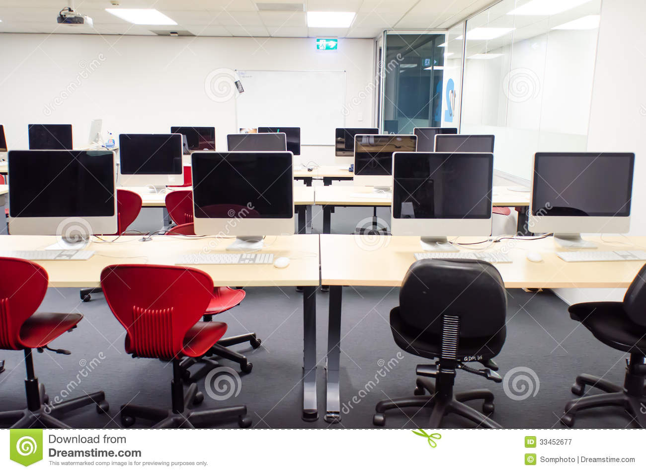 Classroom Web Design ~ Computer class royalty free stock photography image