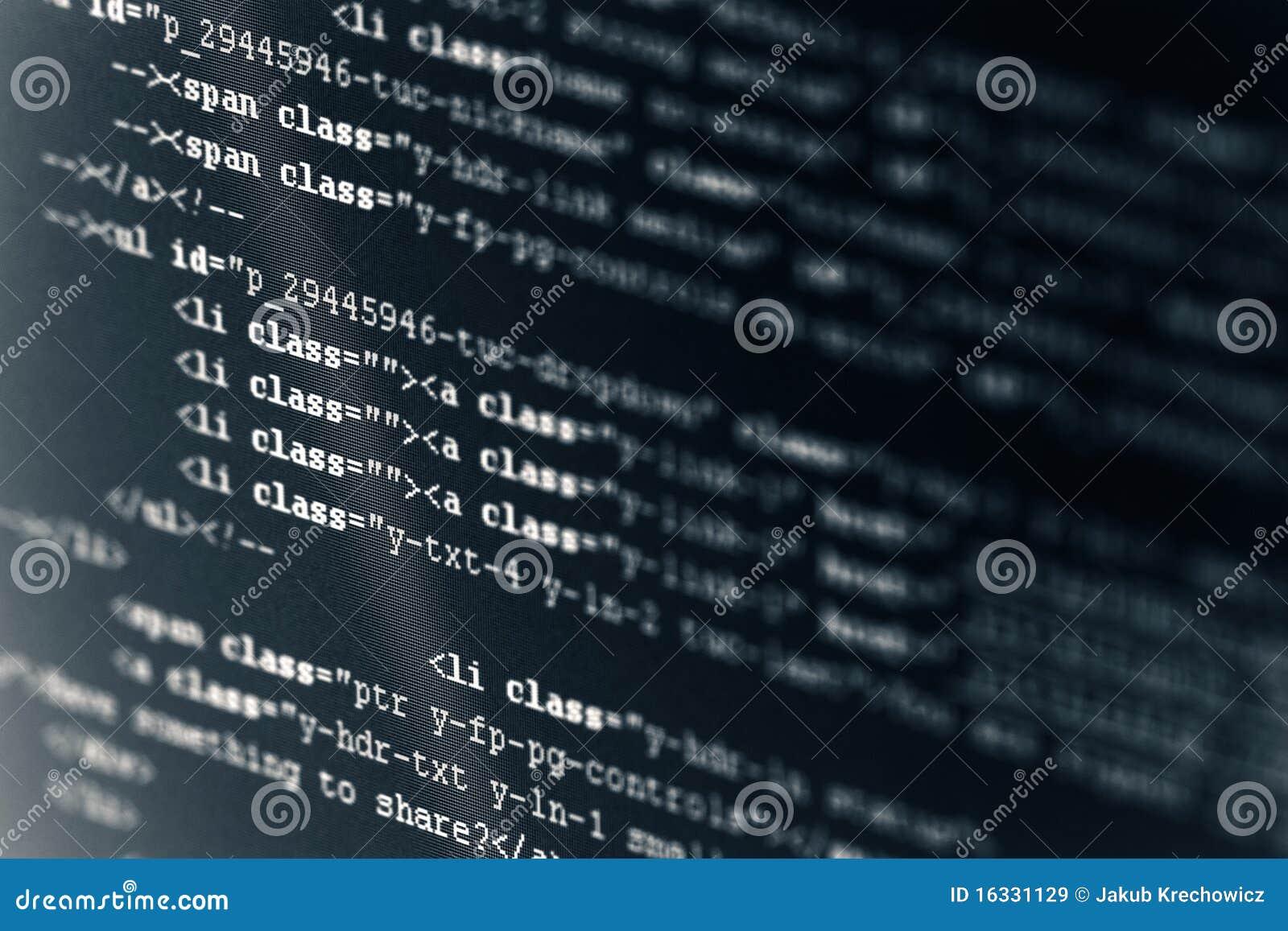 Computer-Code HTML