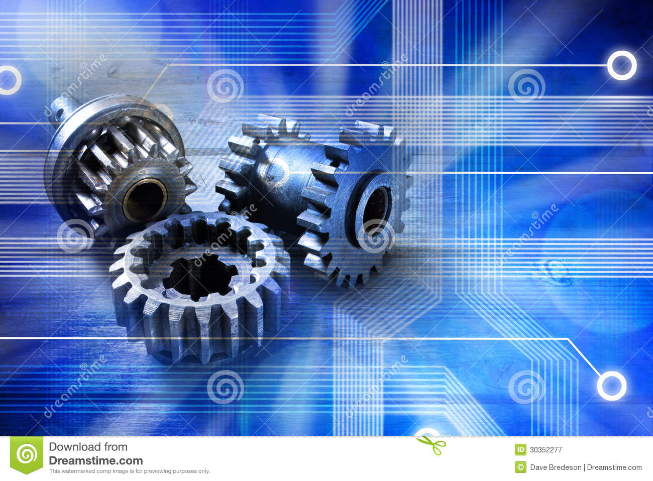computer cogs technology background stock image