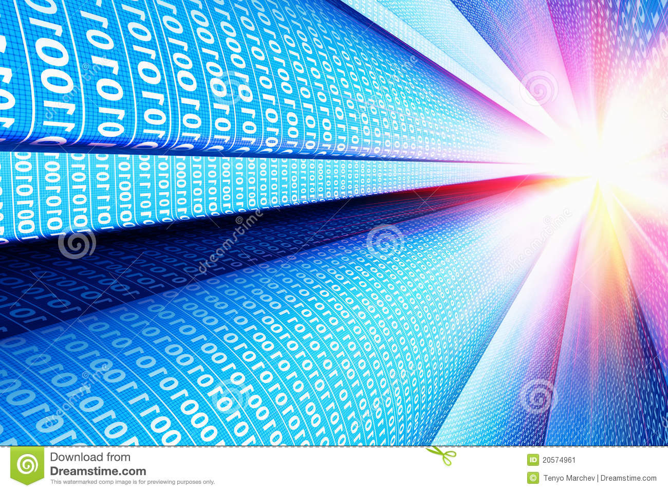 Computer Communication Technology Background Stock Image ...