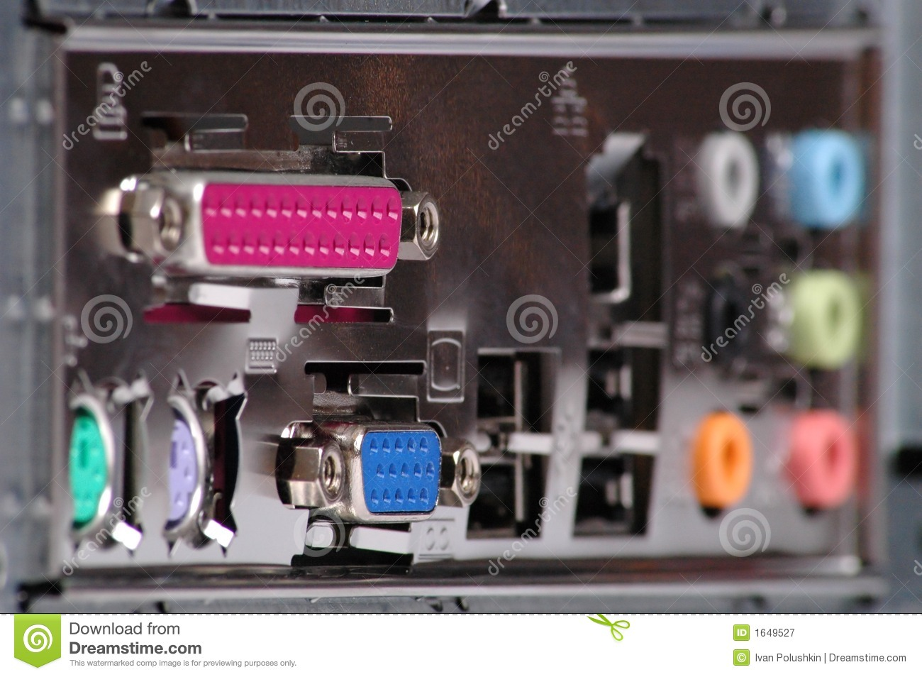 computer connectors royalty free stock photography