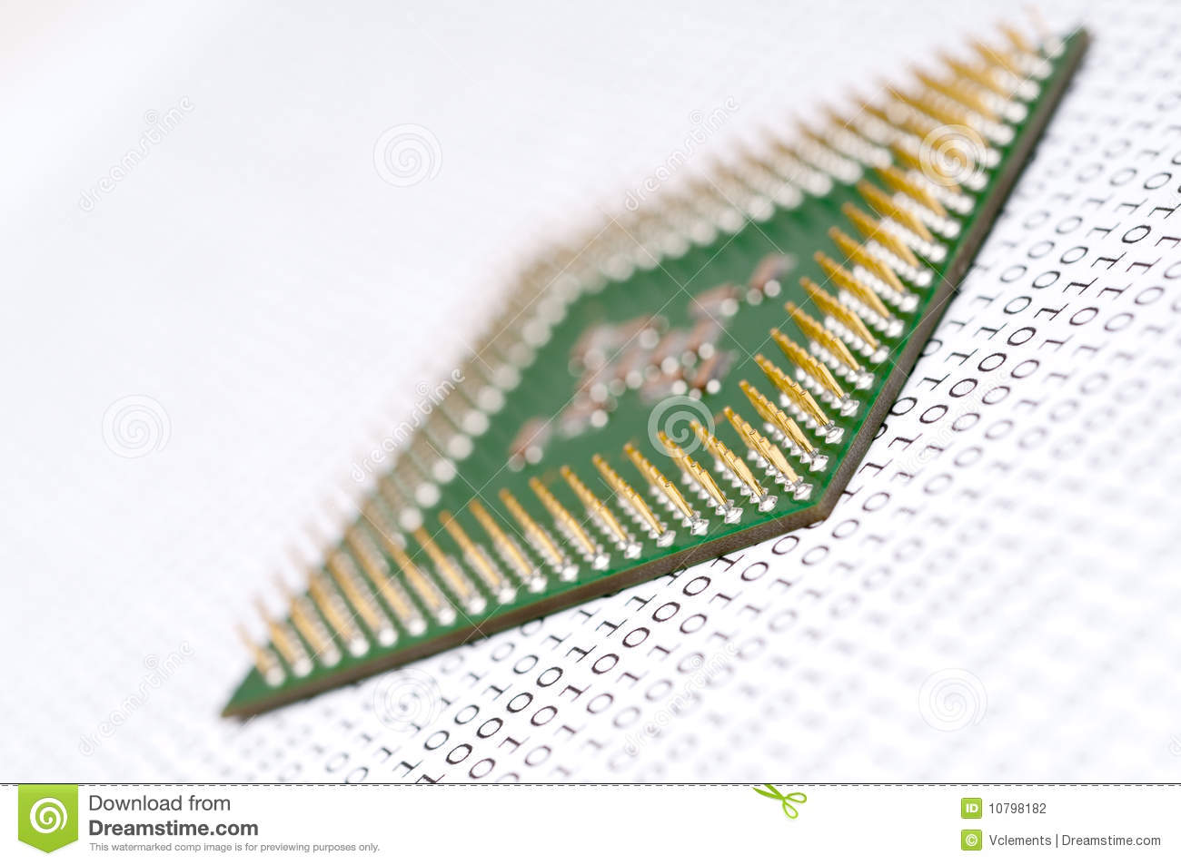 Computer Cpu Chip Binary Code Stock Images 99 Photos Ram Chips With A Circuit Board Memory