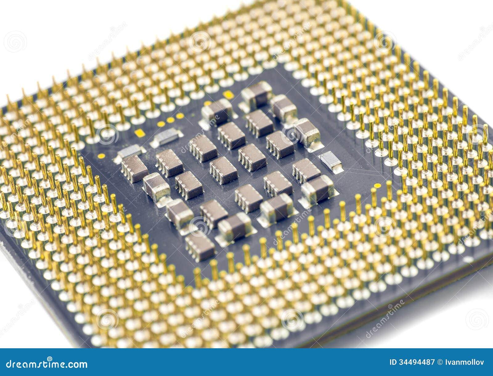 Computer CPU unit closeup stock image. Image of ...