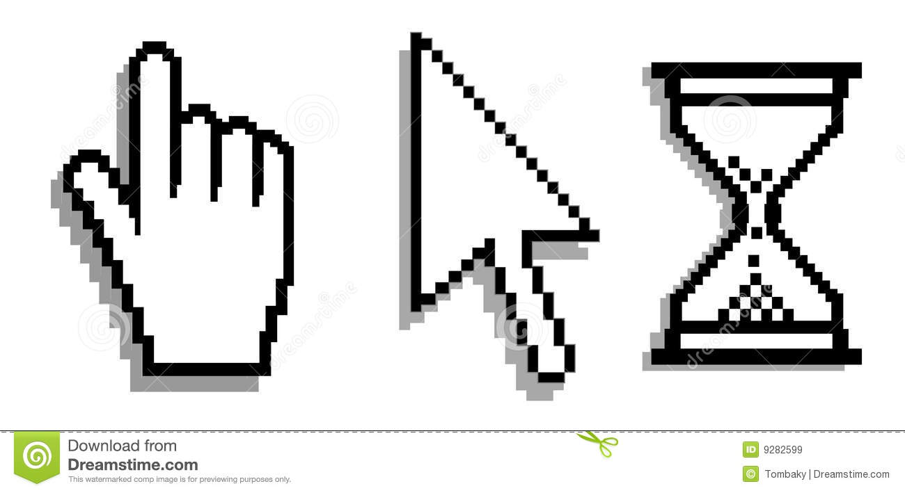 Computer Cursor. Vector Royalty Free Stock Images - Image: 9282599