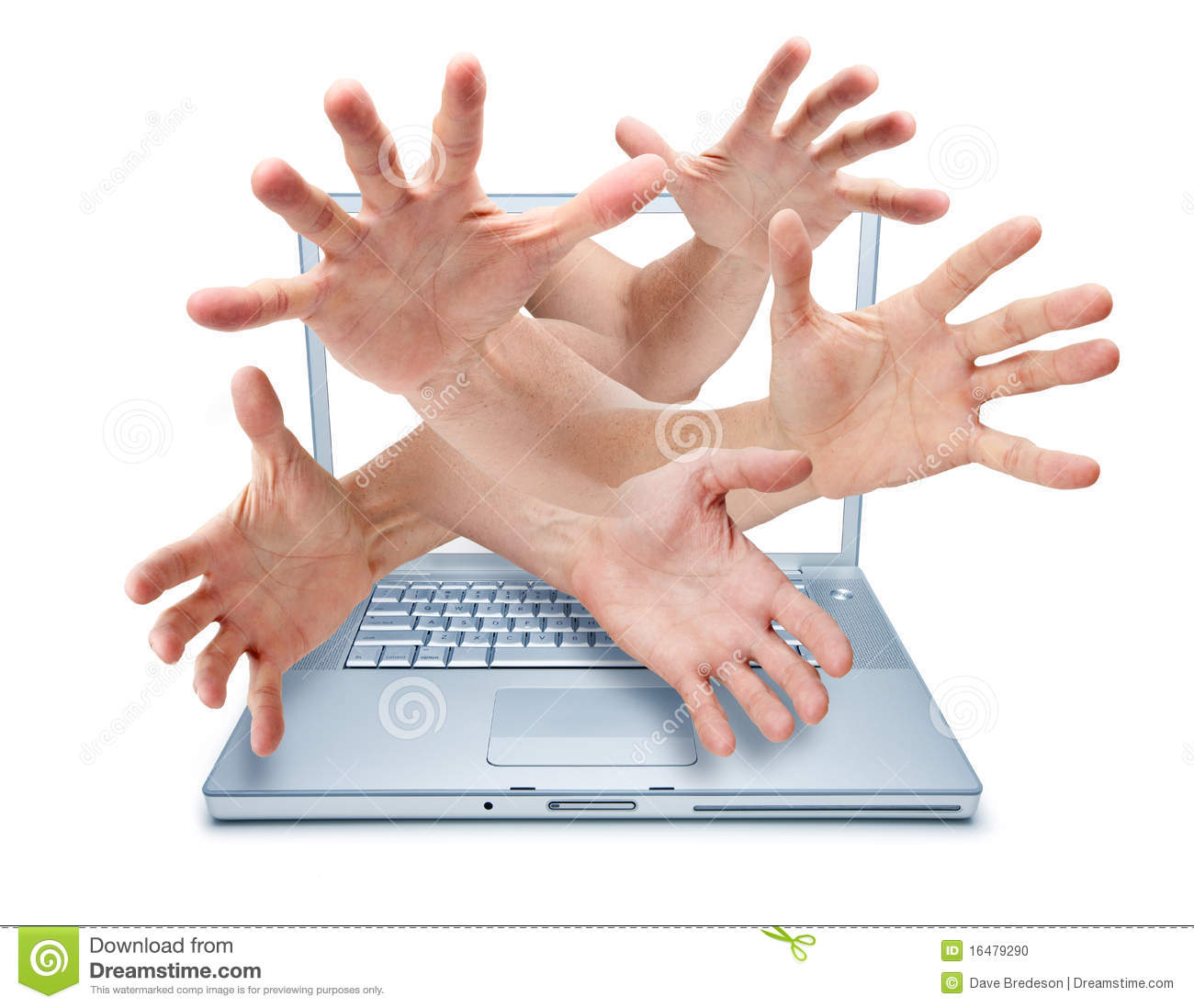 Computer Cyber Bullying Hands Security Theft Stock Photo - Image ... Cyber Bullying Clipart