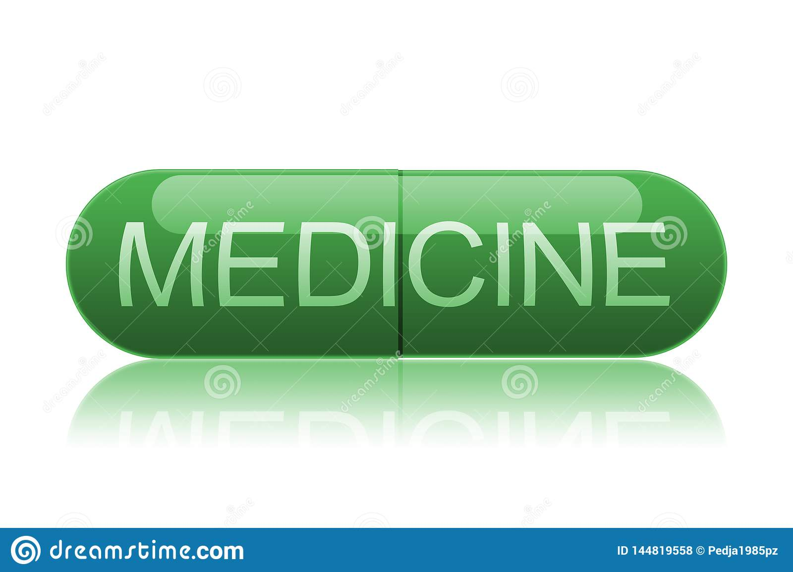 Pill with the label Medical