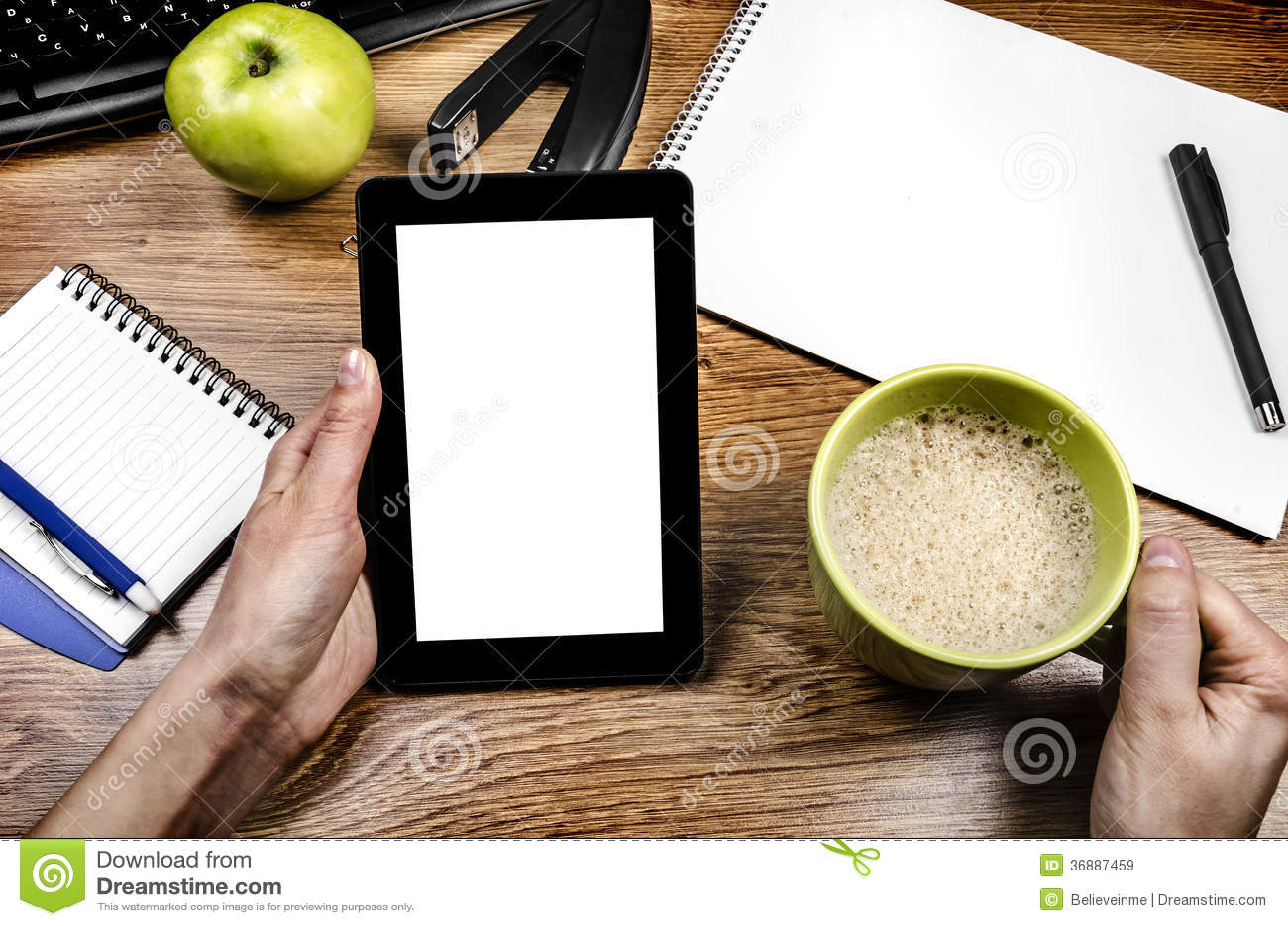 Download Computer della compressa immagine stock. Immagine di pubblicità - 36887459