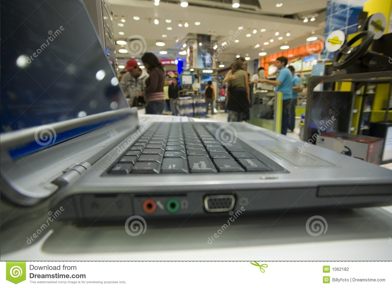 Computer department in a big store