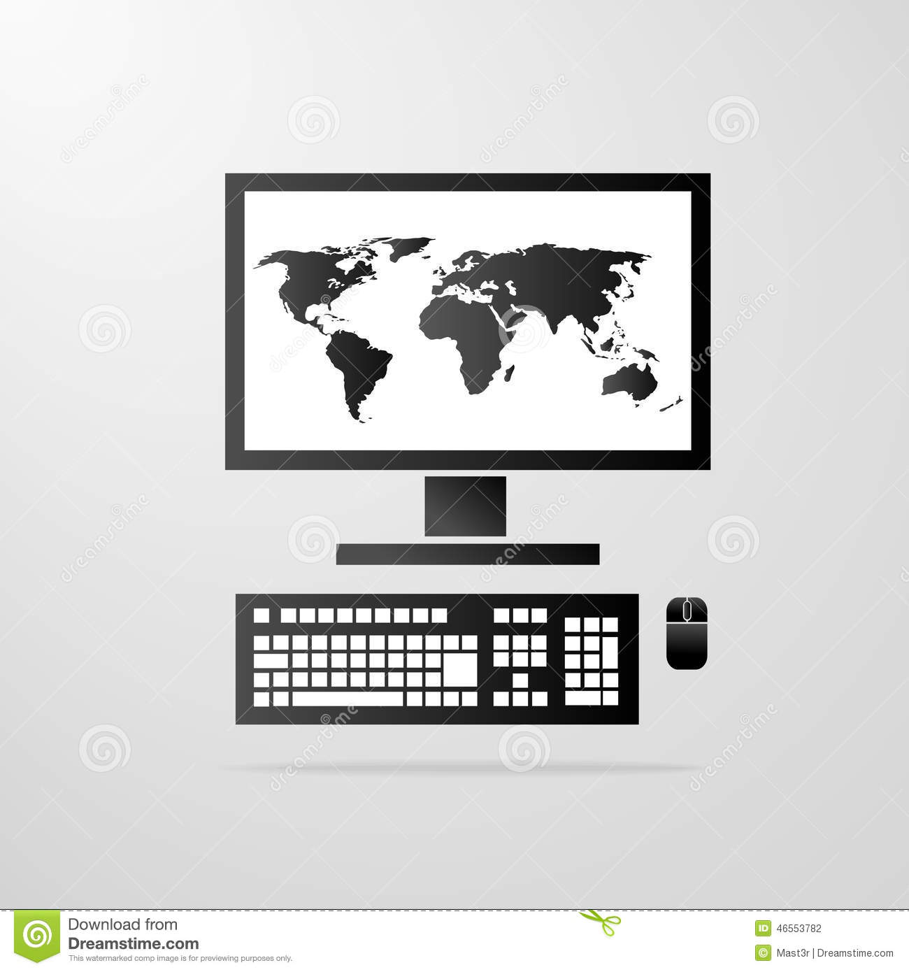 Computer desktop icon world map vector stock vector illustration computer desktop icon world map vector royalty free vector download gumiabroncs Gallery