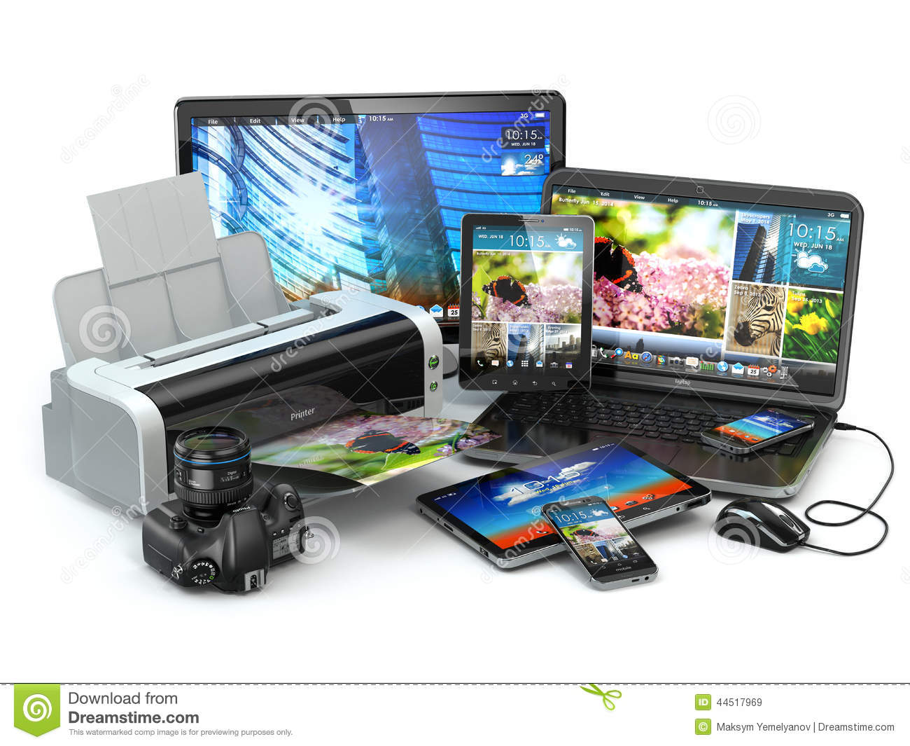 Computer Devices  Mobile Phone, Laptop, Printer, Camera And