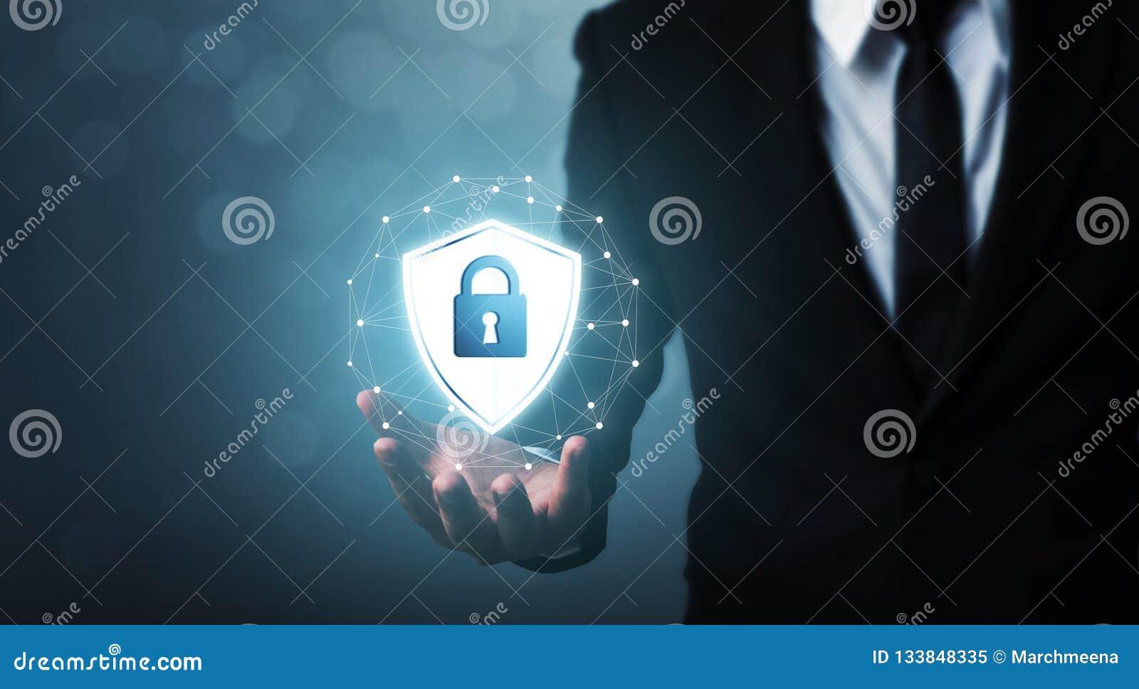 Computer Di Sicurezza Della Rete Di Protezione E Sicuro Il ...