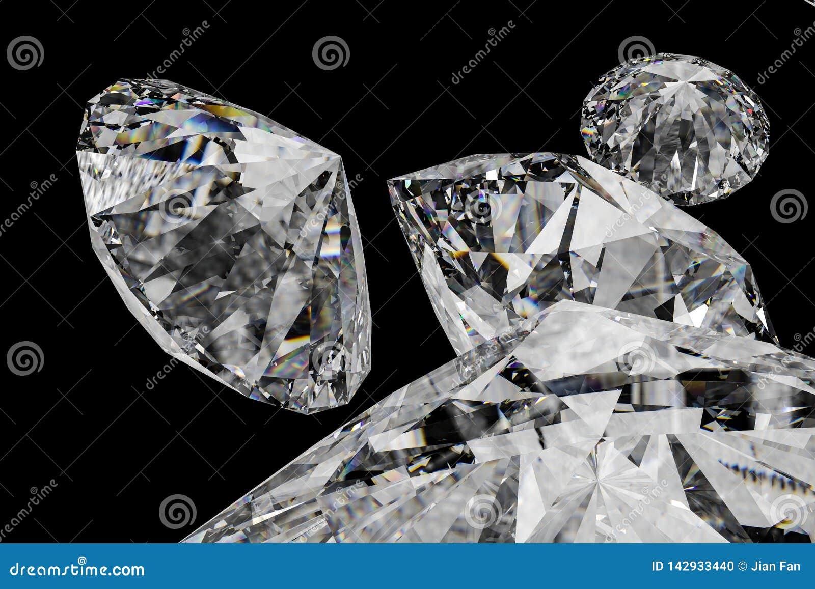 Luxury Diamond Gem, 3d Rendering Stock Photo - Image of diamonds