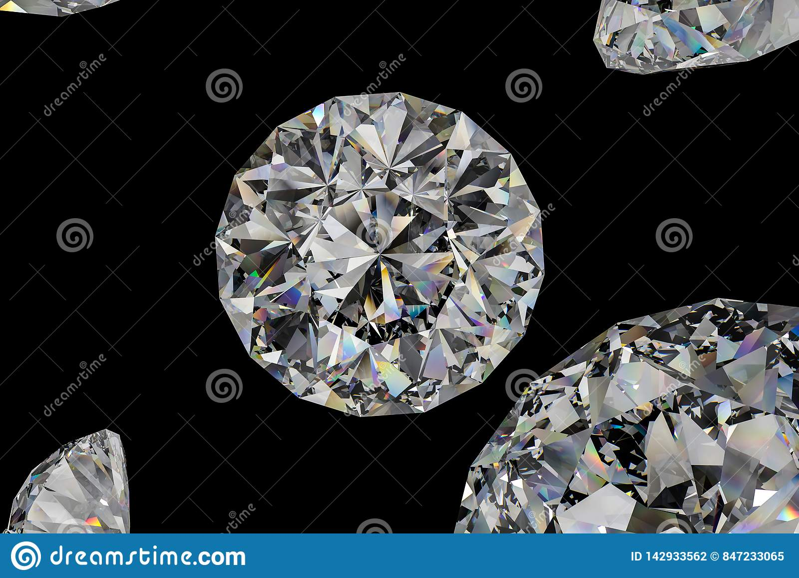 Luxury Diamond Gem, 3d Rendering Stock Photo - Image of