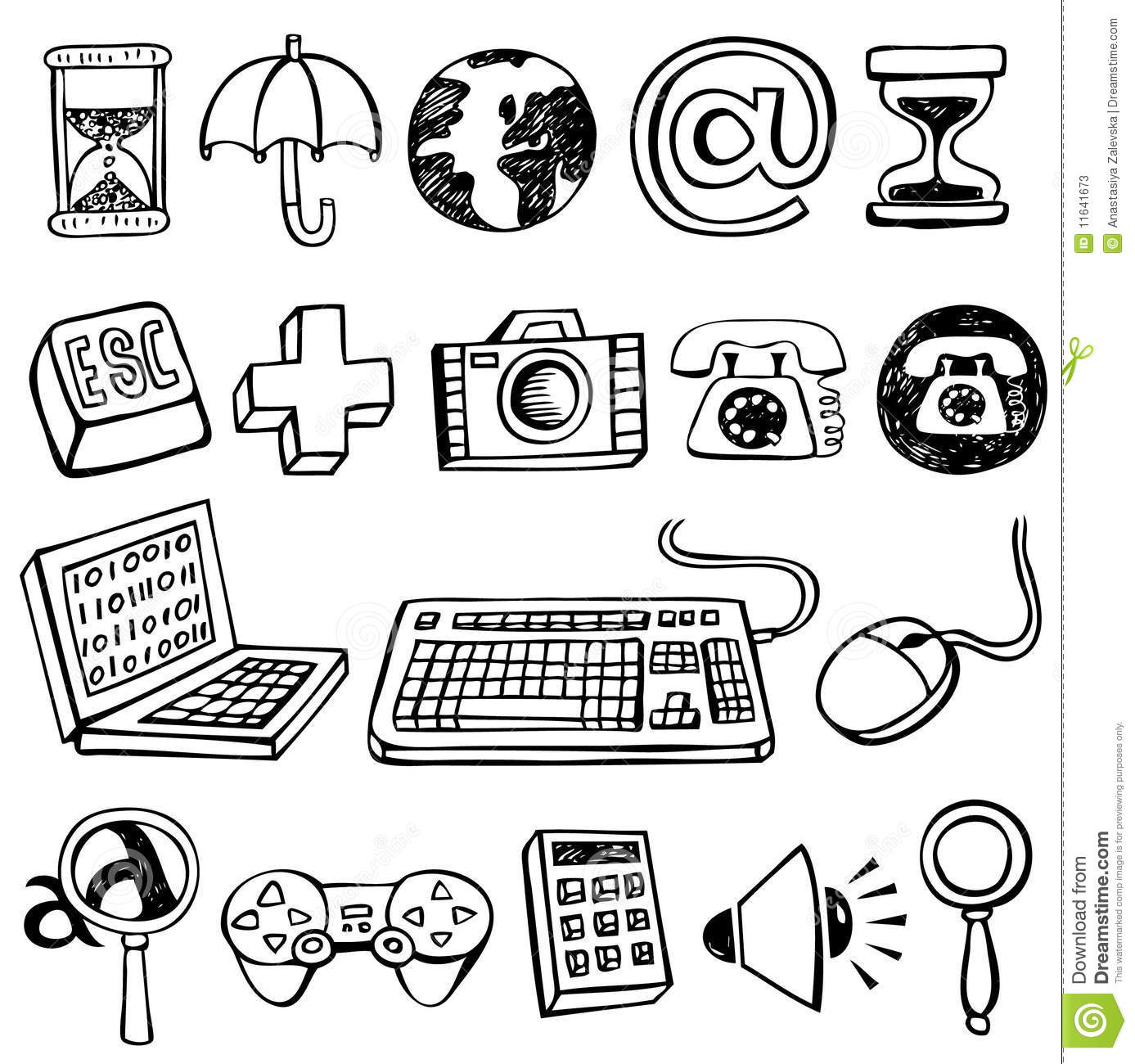 computer doodles stock vector  image of communication