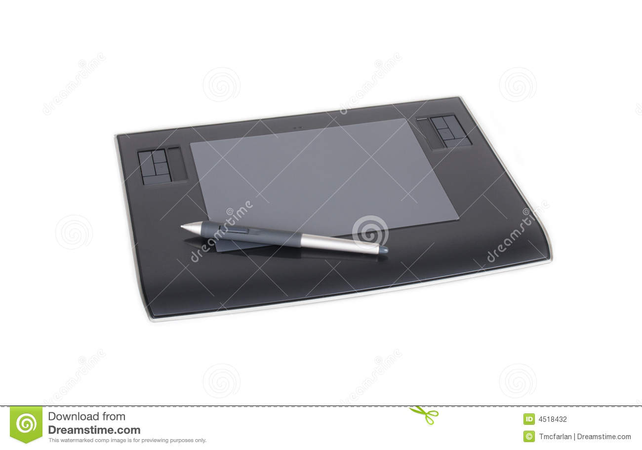 Drawing Lines With Tablet : Computer drawing tablet stock photo image of mouse