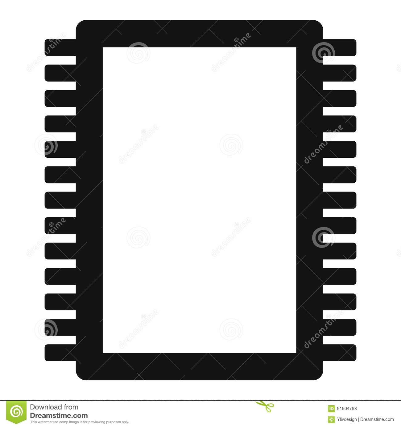 Computer Electronic Circuit Board Icon Simple Stock Vector ...