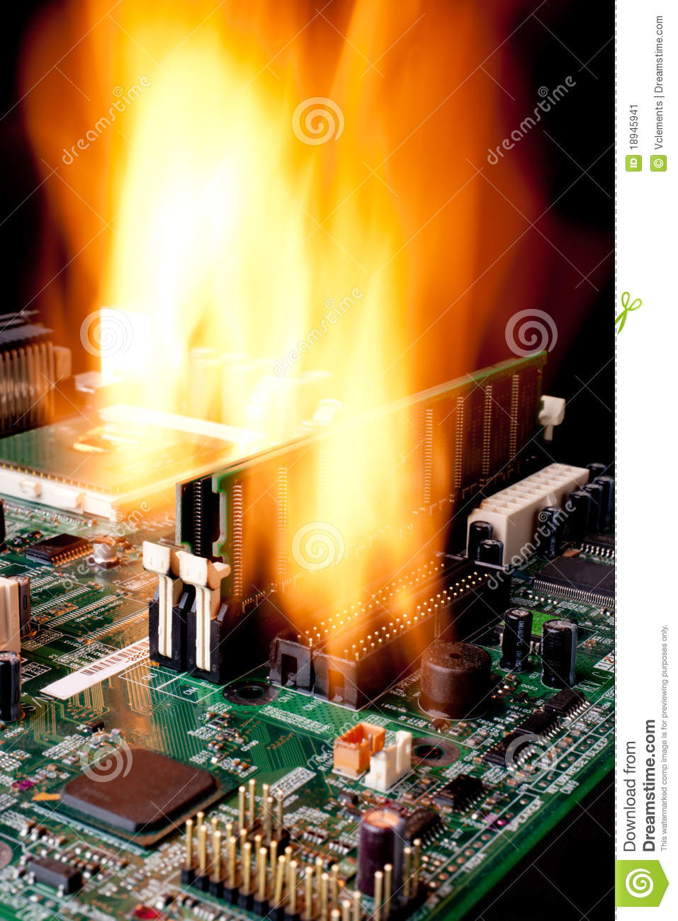 Stock Image  puter Electronic Mother Board Fire Image18945941 on motherboard resistor