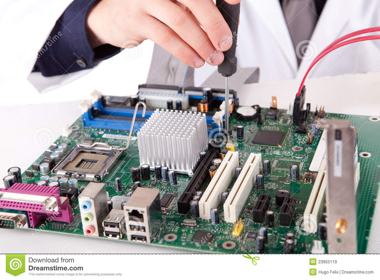Computer Engineer Stock Image Image Of Isolated Problem