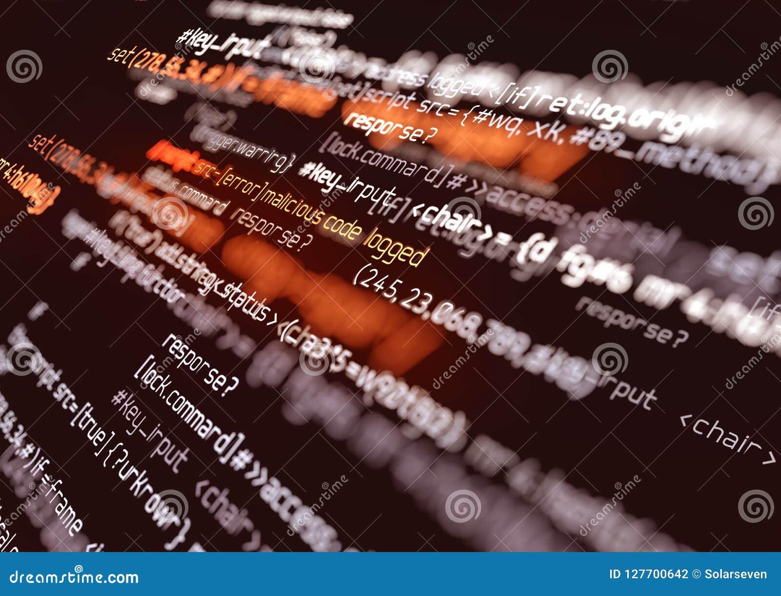 Computer-Fehler-Skript-Code-Hintergrund