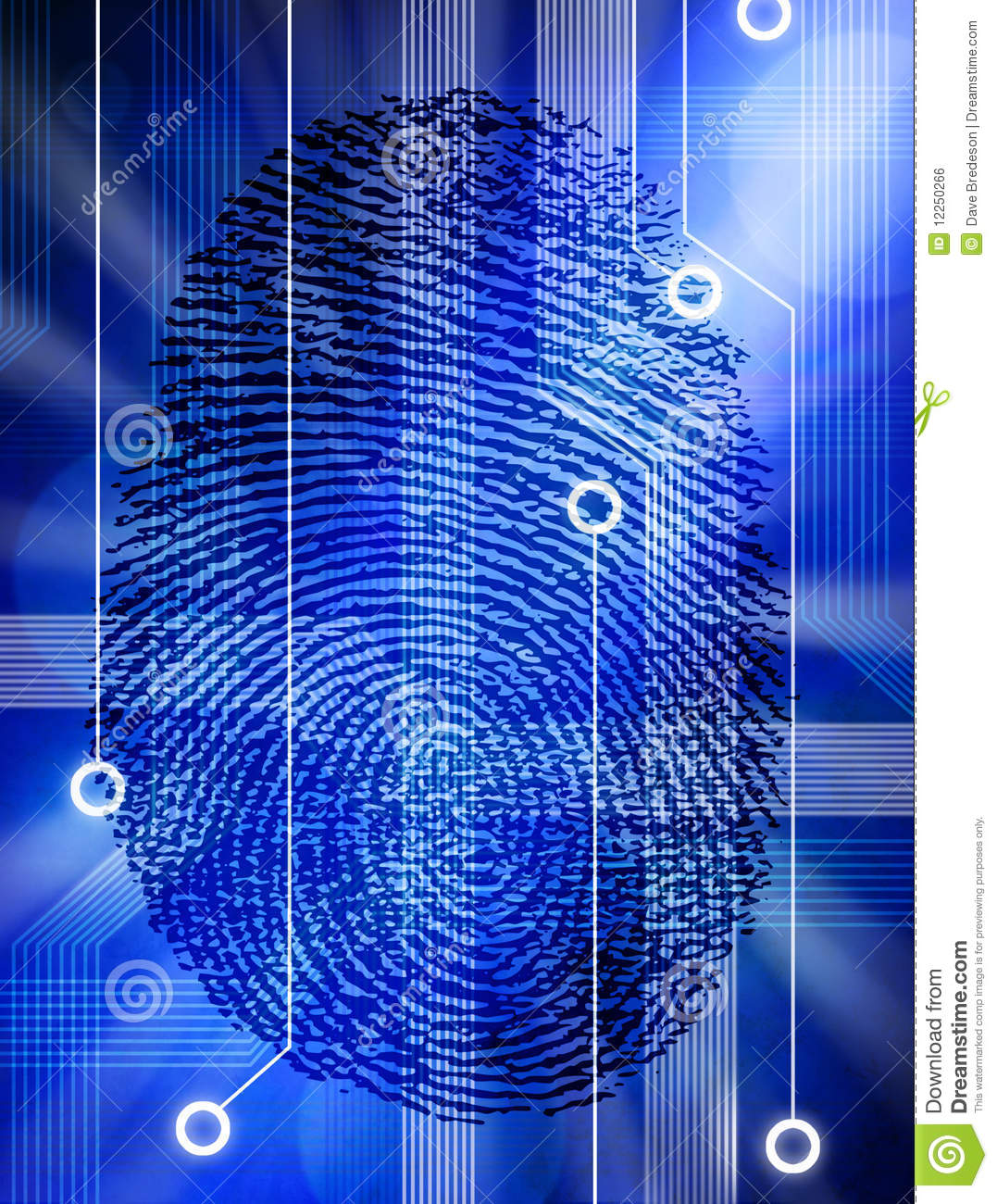 computer fingerprint technology security identity stock