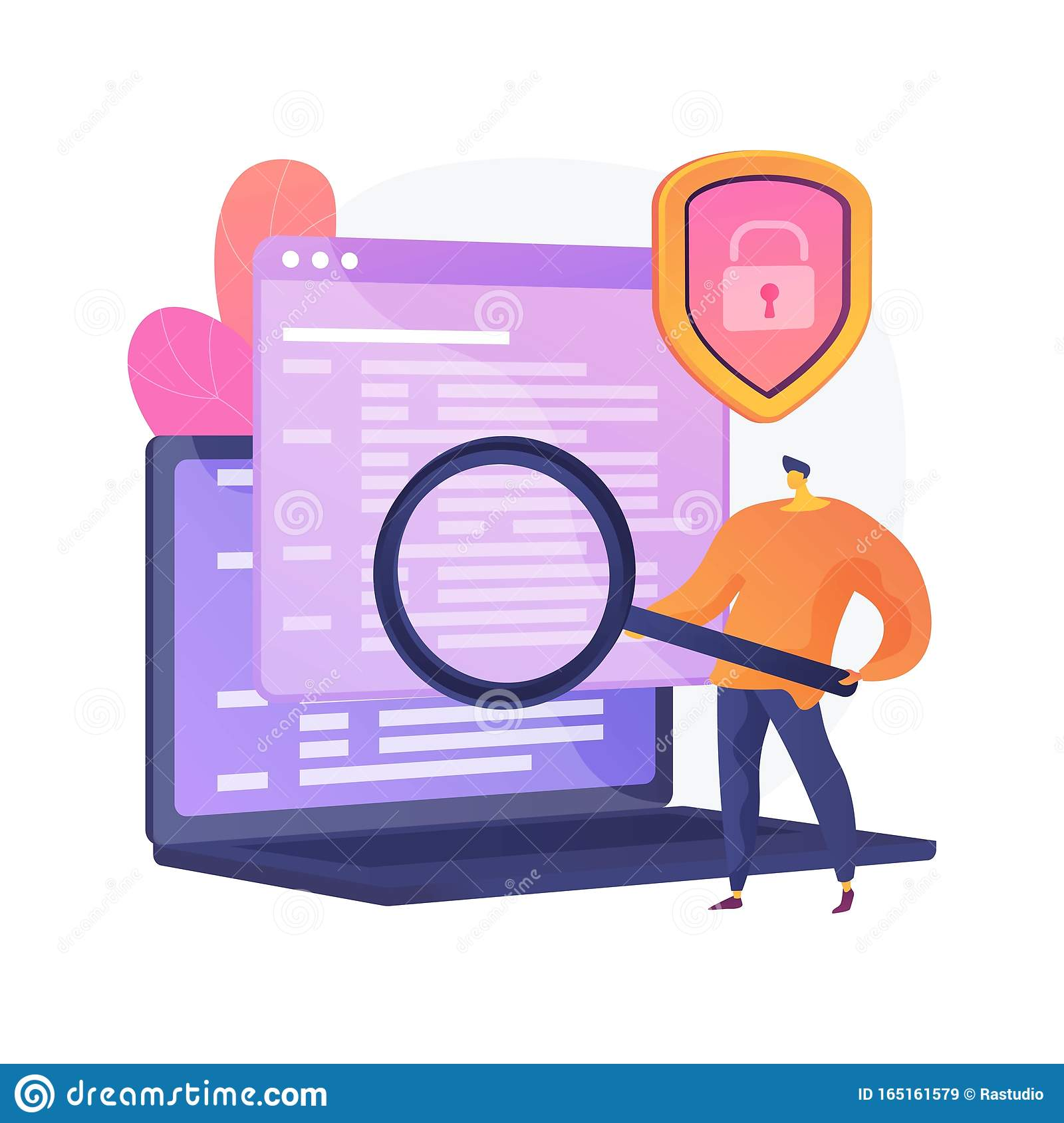 Computer Forensics Vector Concept Metaphor Stock Vector Illustration Of Icon Display 165161579