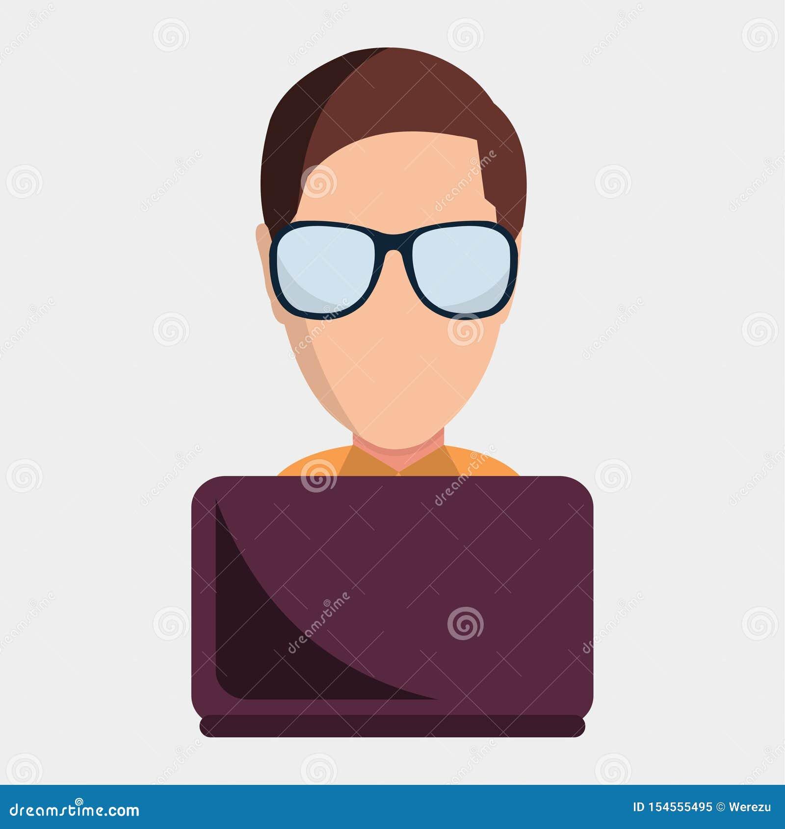 Cheerful Computer Geek - Juggling Gadgets — Stock Vector
