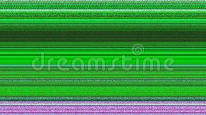 Multicoloured Horizontal Lines With TV Static  Glitching, hypnotic