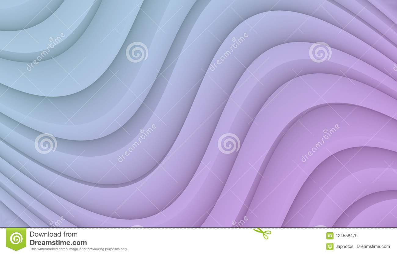 Blue And Lilac Purple Smooth Flowing Curves Abstract