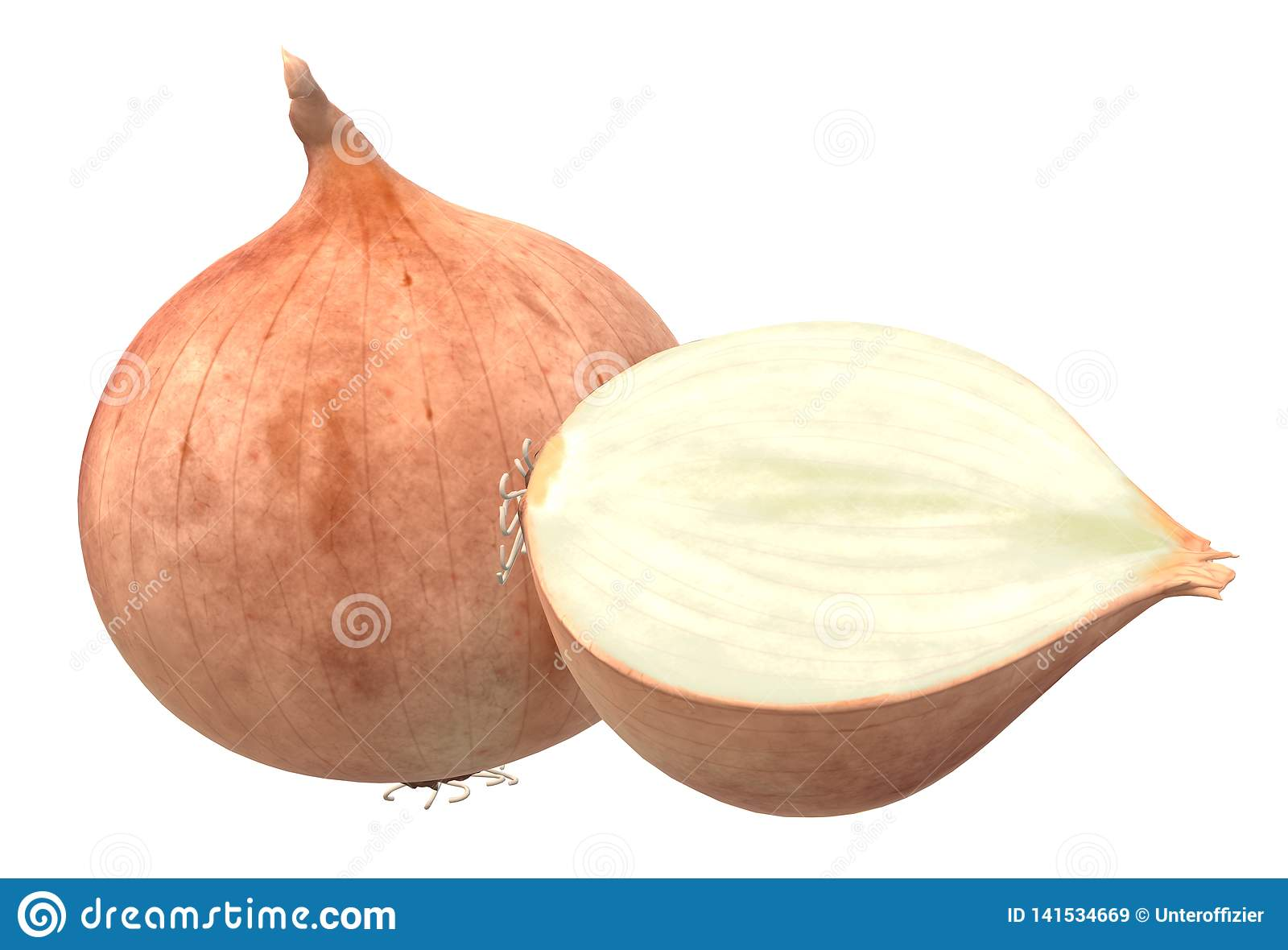 A full and a half sliced onion