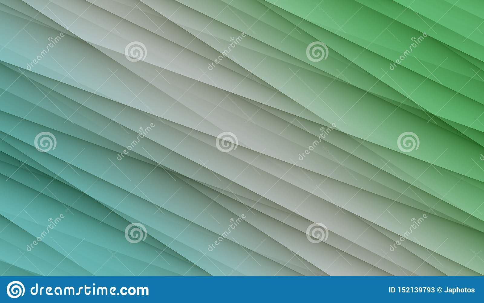Blue white green diagonal irregular lines angles abstract background design illustration.